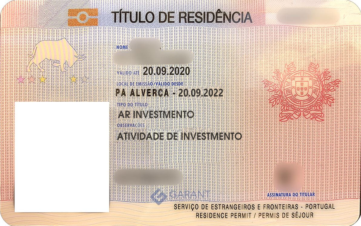 Residence permit of Portugal
