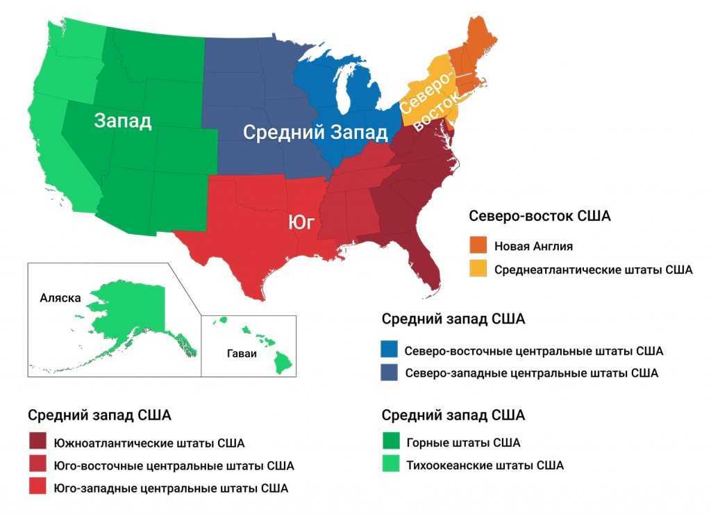 Регионы США