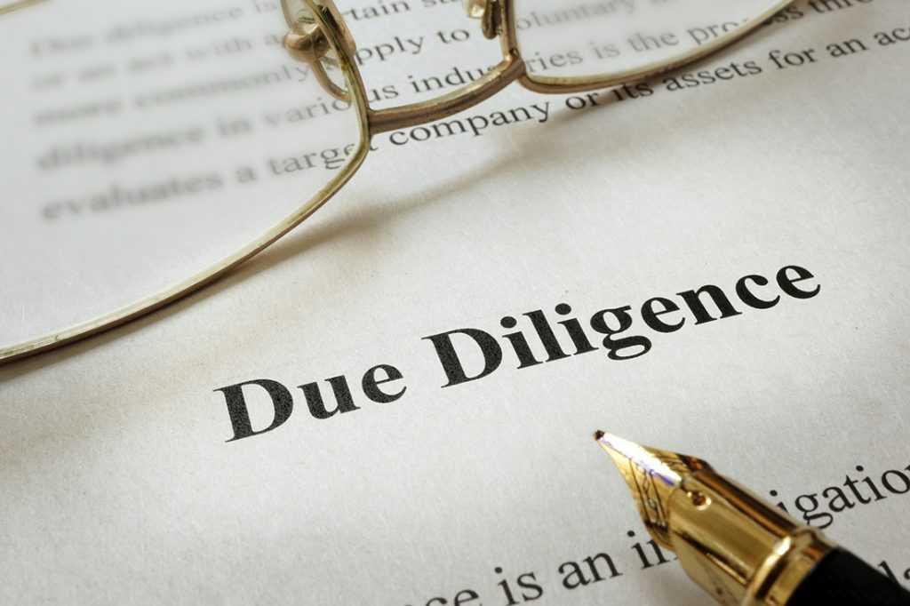 Этапы проведения проверки Due Diligence