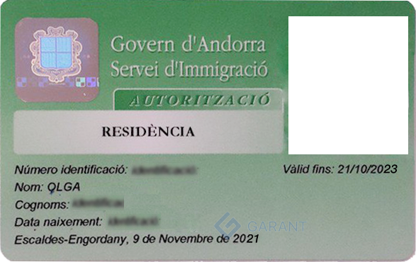 Residence permit <br> of Andorra